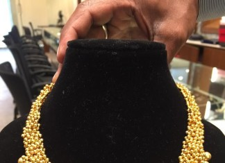 Gold Ball Necklace Design