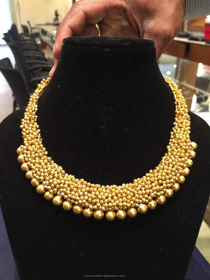 Gold Ball Necklace Design