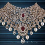 Gold Diamond Choker Necklace from P.Satyanarayan & Sons