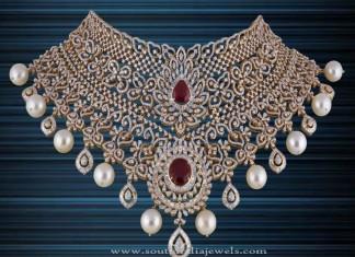 Gold Diamond Choker Necklace from P.Satyanarayan & Sons Jewellers