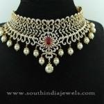 Gold Diamond Jewellery Necklace Designs