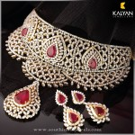 Gold Diamond Necklace and Earrings from Kalyan Jewellers