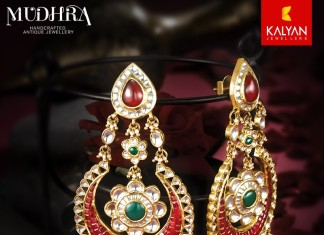 Gold Chandbali Earrings from Kalyan Jewellers