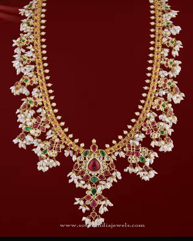 Gold Guttapusalu Necklace from P.Sathyanaranayan & Sons