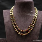 Gold Necklace with Beads Designs