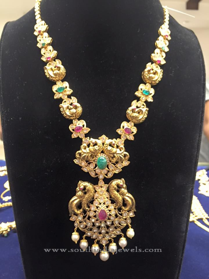 Gold Pachi Haram Designs ~ South India Jewels