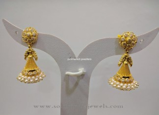 Gold Pearl Jhumka Design