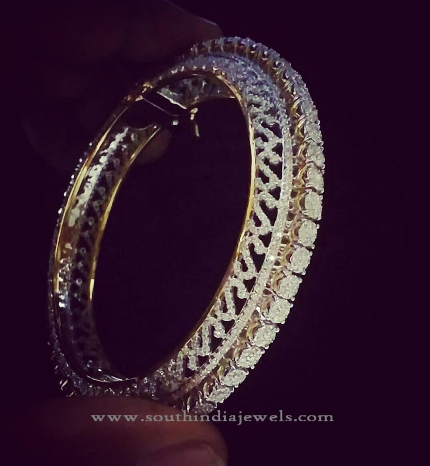Big Diamond Bangle From Panicaa