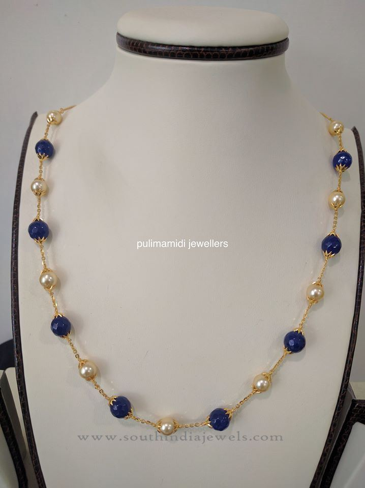Indian Pearl Chain Necklace Design