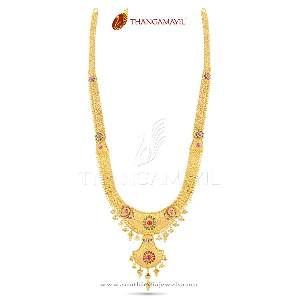 22K Gold Bridal Long Haram from Thangamayil Jewellery