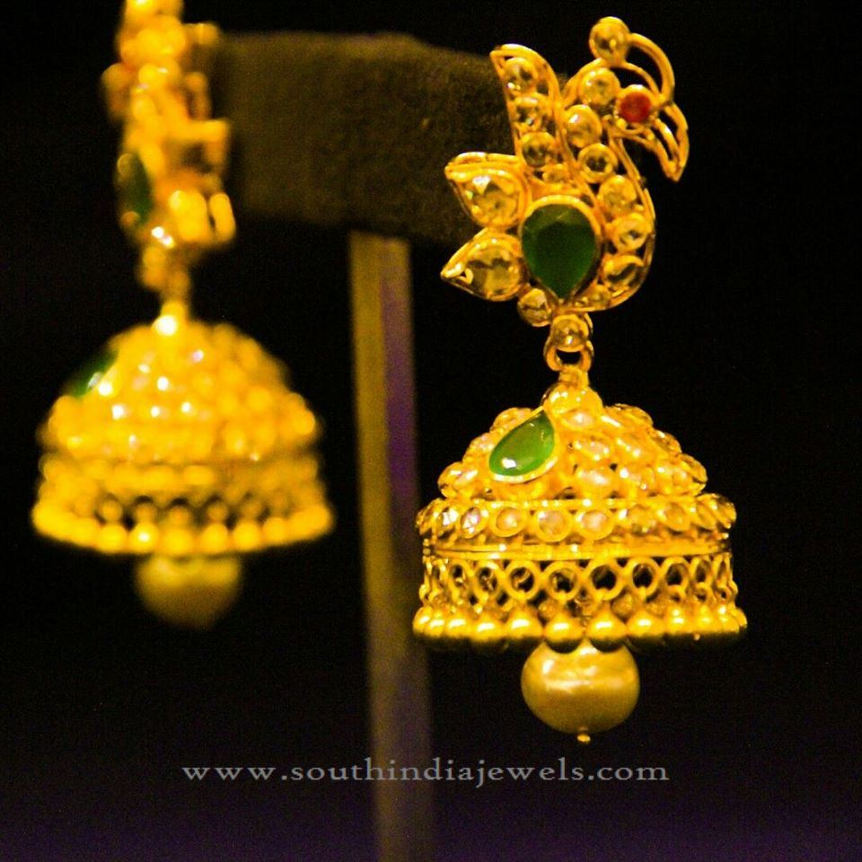 Indian Gold Traditional Jhumka Design ~ South India Jewels