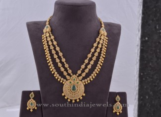 Indian Uncut Diamond Necklace Set and Earrings