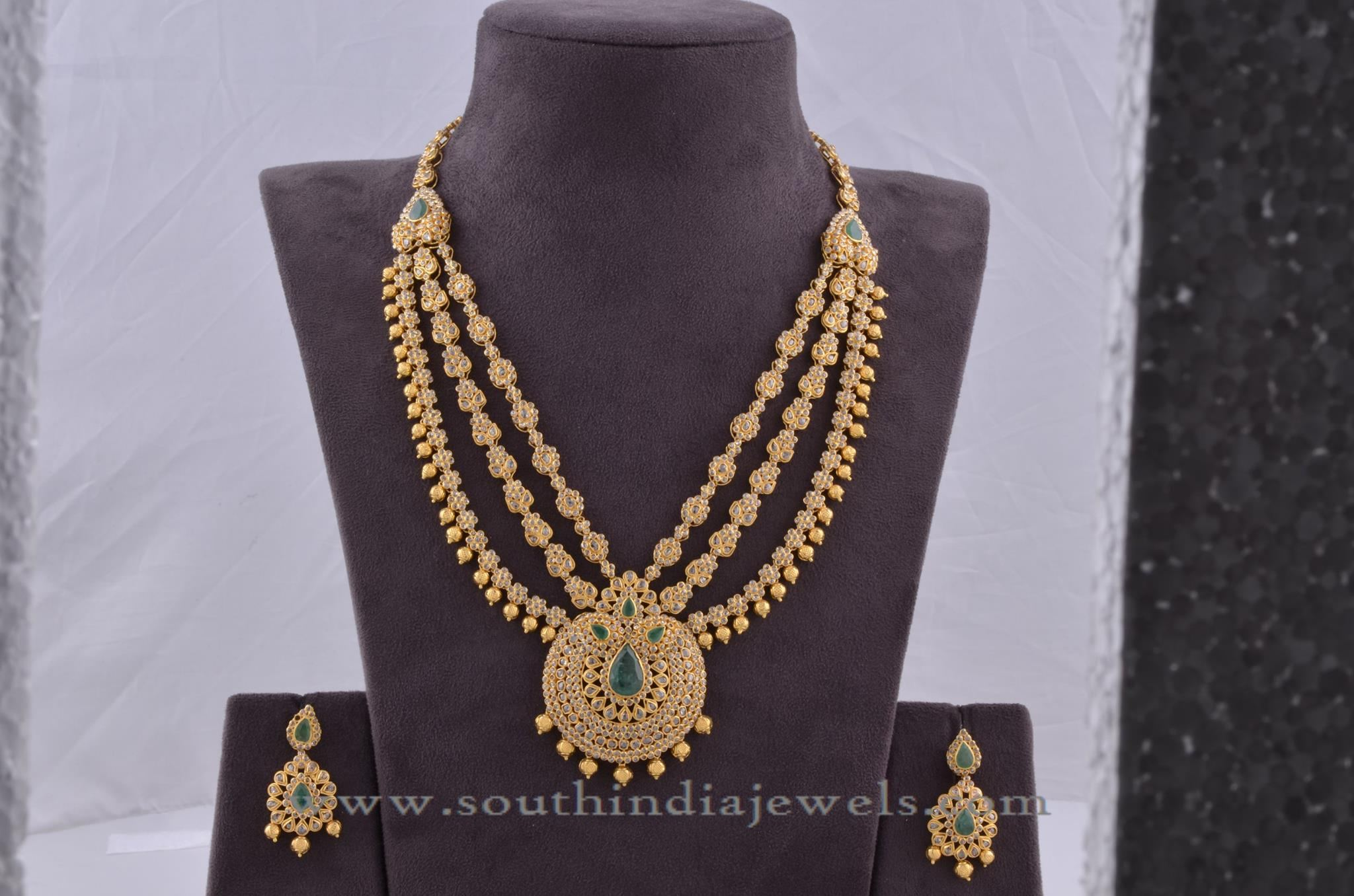 mango product diamond pearl pendants water earrings set and necklace indian pendant