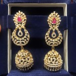 Layered Diamond Jhumkas