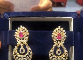 Layered Diamond Jhumkas