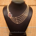 Light Weight Multilayer Gold Necklace