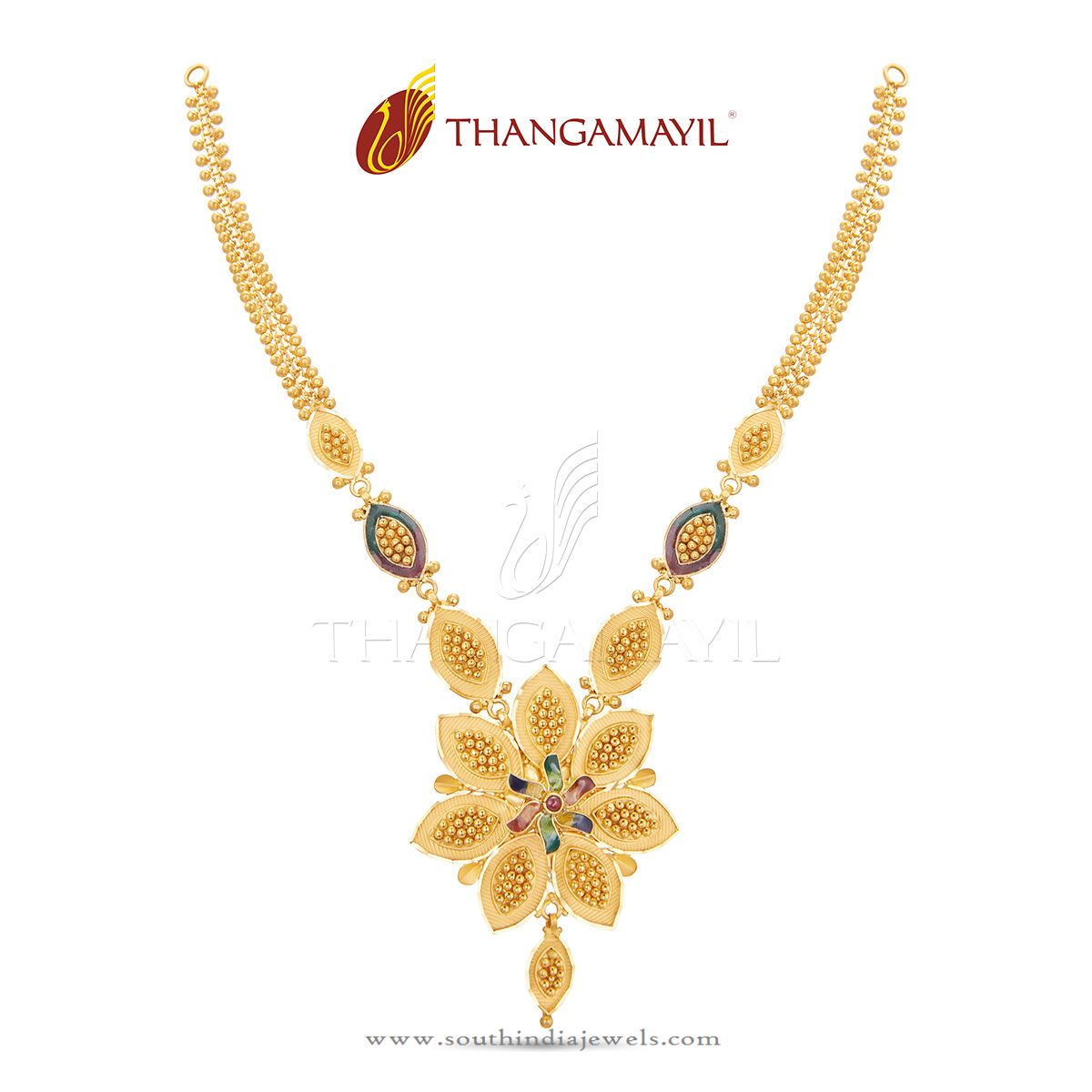 Low Weight Gold Jewellery Necklace ~ South India Jewels