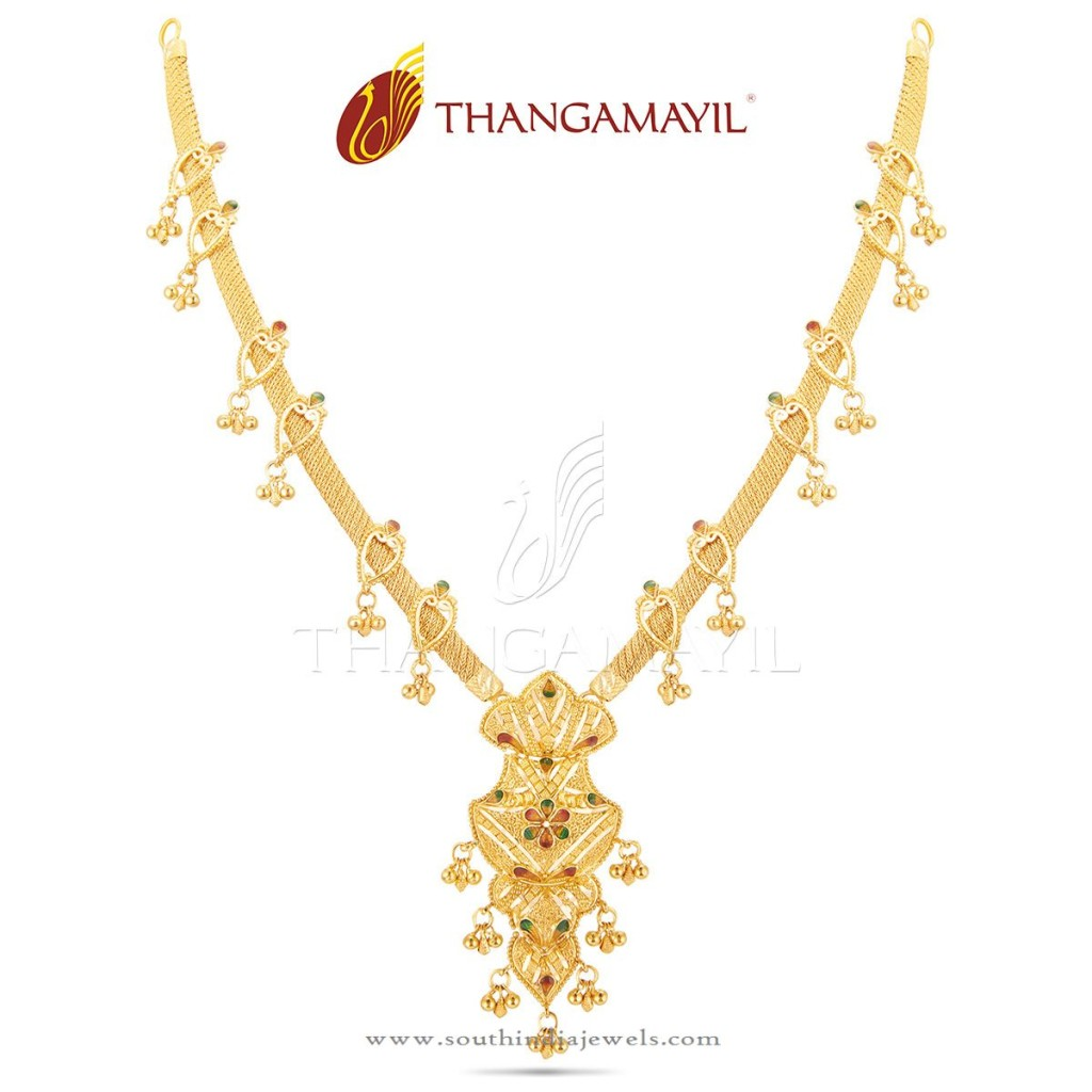 Light Weight Gold Necklace from Thangamayil