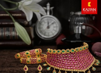 Ruby Choker Necklace set from Kalayan Jewellers