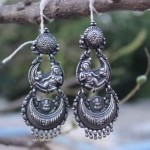 Pure Silver Chandbali Earrings