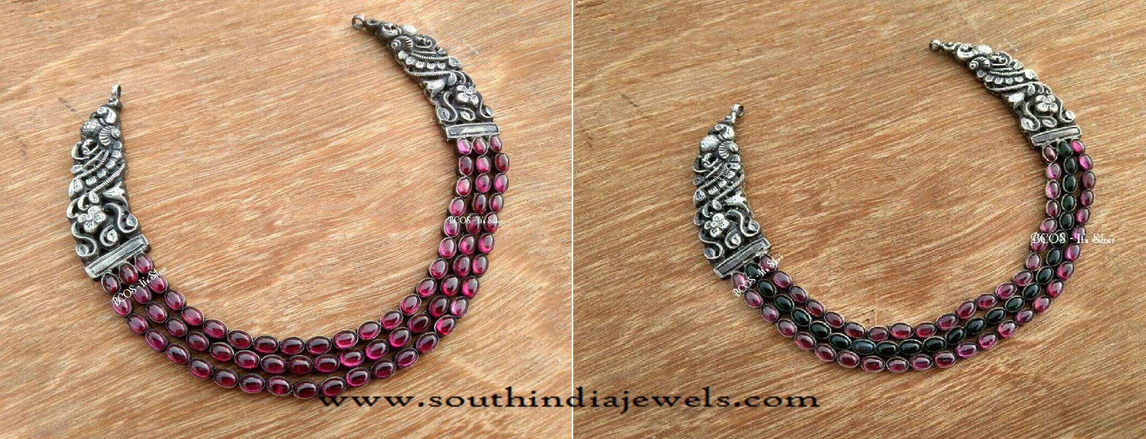 antique bhima sku silver necklace product copy jewellers