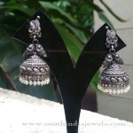 Pure Silver Peacock Jhumka Design