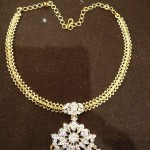 Simple Diamond Attigai Necklace