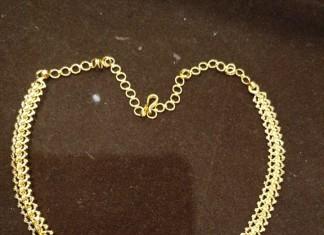 Simple Diamond Attigai Necklace