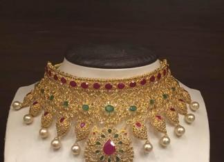 Bridal Uncut Diamond Choker Necklace