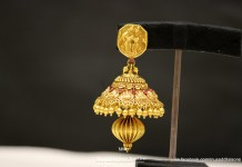 Gold Antique Coin Jhumka