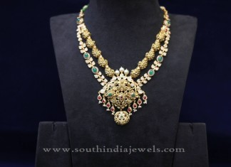 Two Layer Uncut Diamond Necklace Design