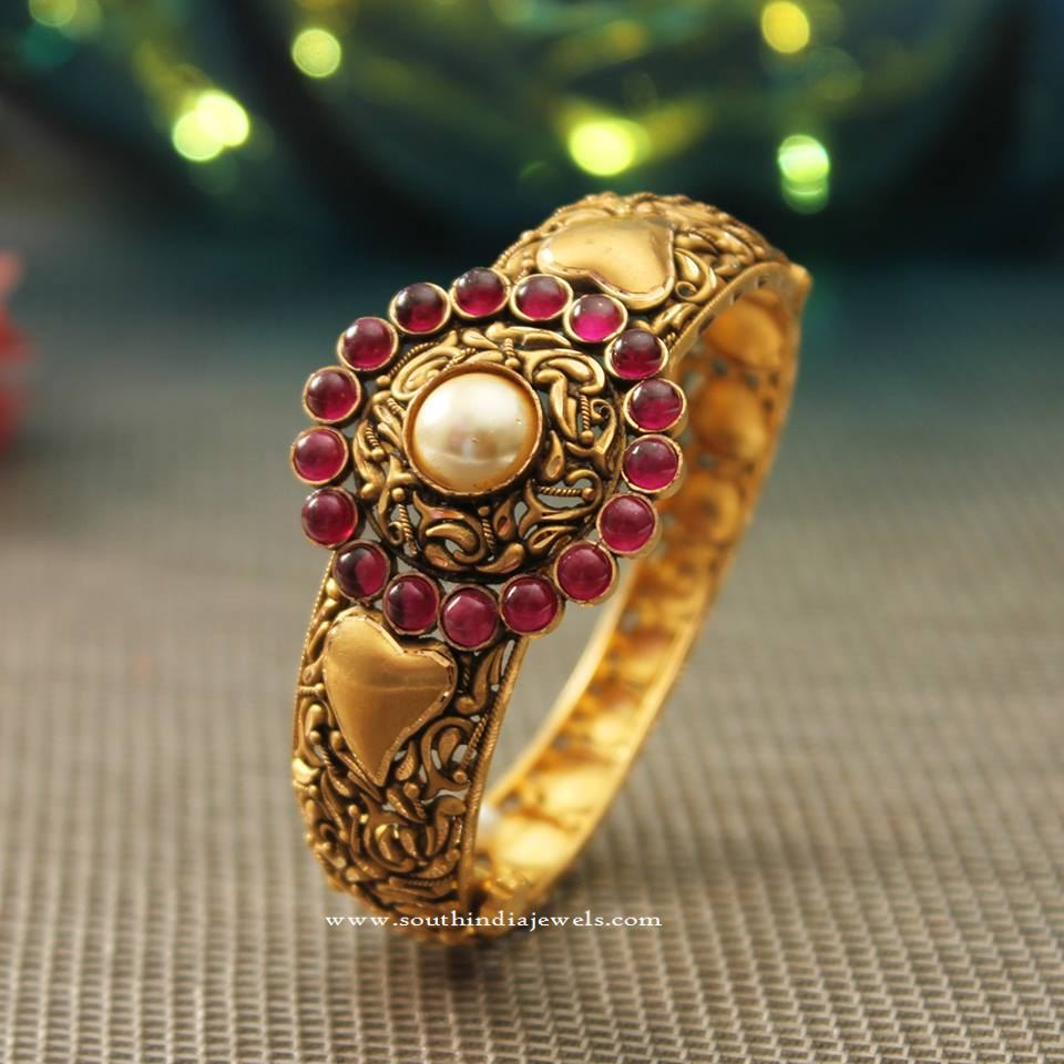 22K Gold Antique Kada Bangle New Design