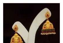 35 Grams Gold Antique Jhumka