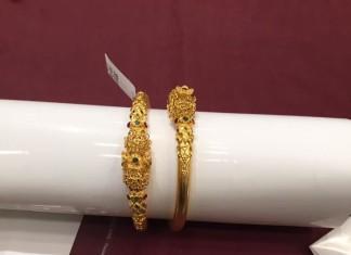 38 Grams Gold Antique Bangles