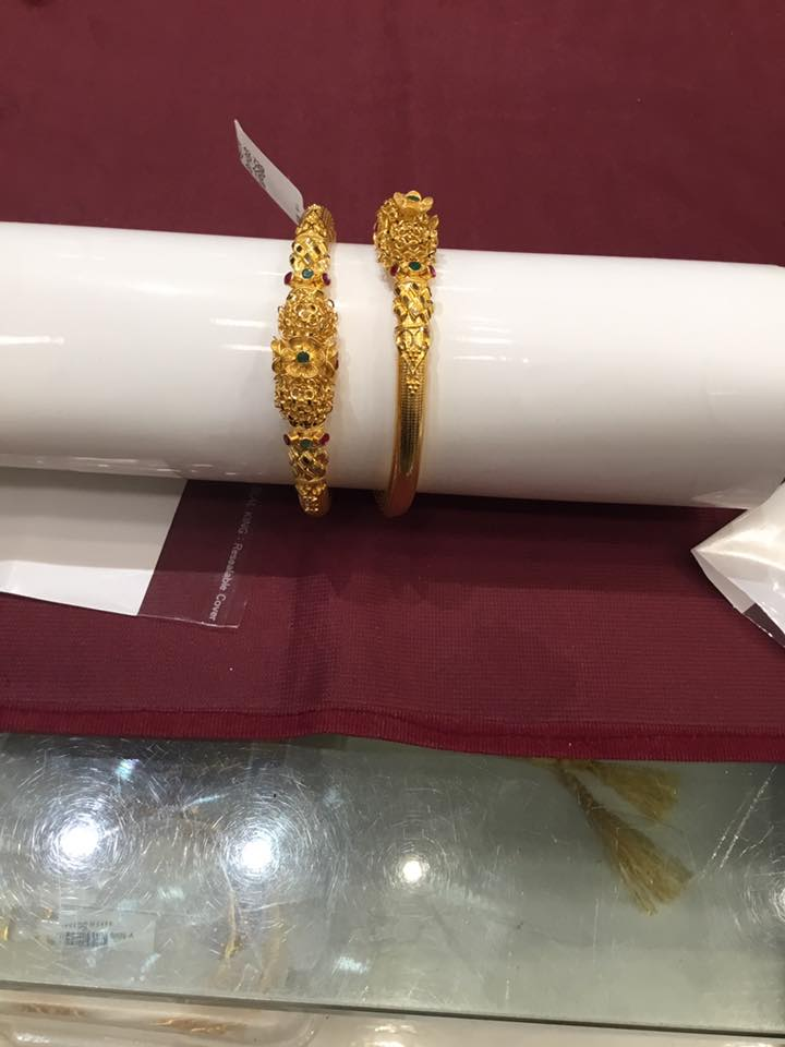 38 Grams Gold Antique Bangles
