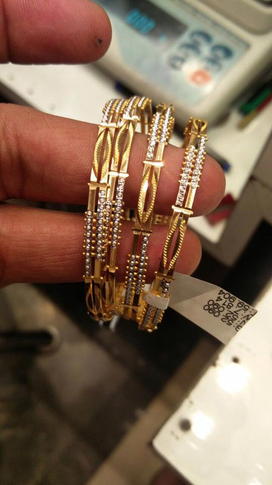 50 Grams Gold Bangles Set