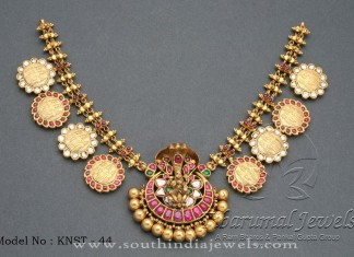 Antique Gold Coin Necklace from Tibarumal Jewels