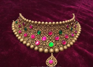 22K Gold Antique Heritage Choker Necklace