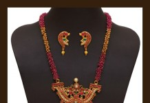 Beautiful 22K Gold Antique Ruby Haram Design