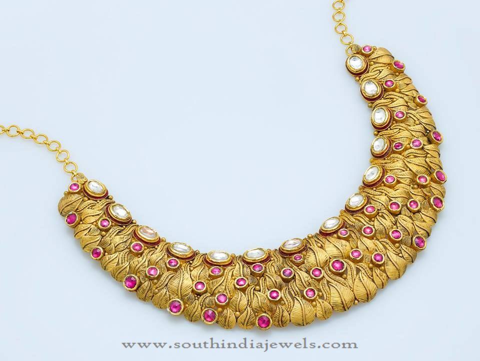 Designer Gold Choker Necklace from Josco Jewellers