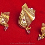 Gold Designer Pendant Set Model