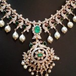 Diamond Emerald Necklace Model