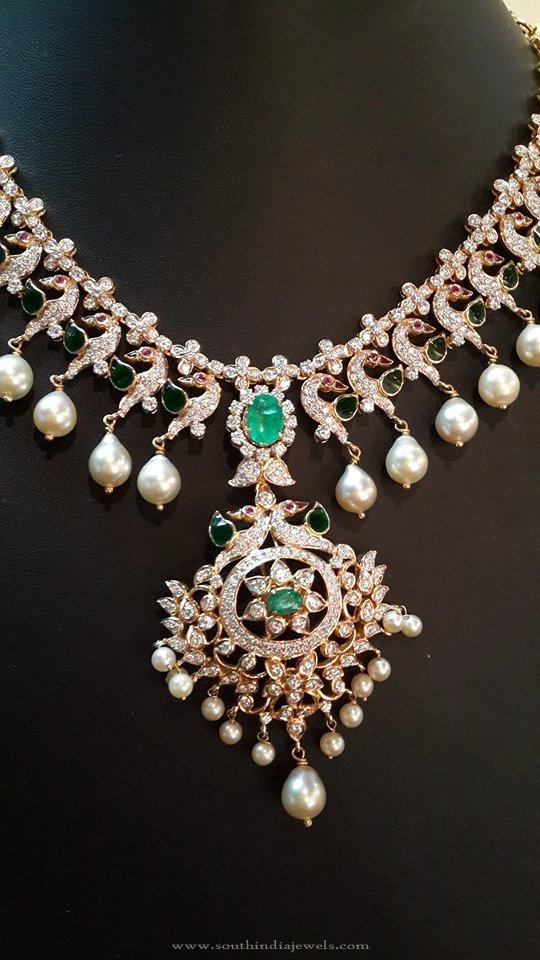 Diamond Necklace Model from Anantham