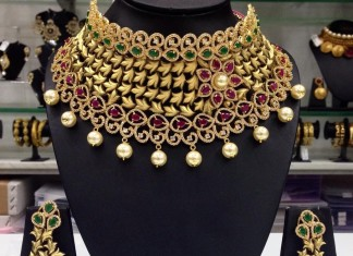 Gold Plated Designer Choker From Swarnakshi