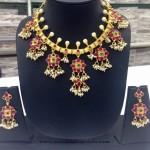 Gold Plated Guttapusalu Necklace Set