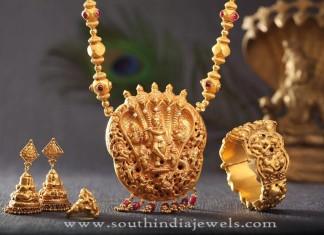 Gold Antique Bridal Sets from Kamadhenu Jewellery