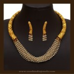 Gold Antique Designer Pearl Necklace Set