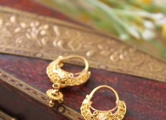 Indian Gold Hoop Earrings