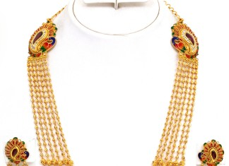 Gold Gundala Haram Designs from Kamadenu Jewellery