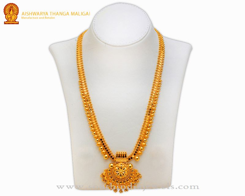 Gold Haram Designs At Aishwarya Thanga Maligai South